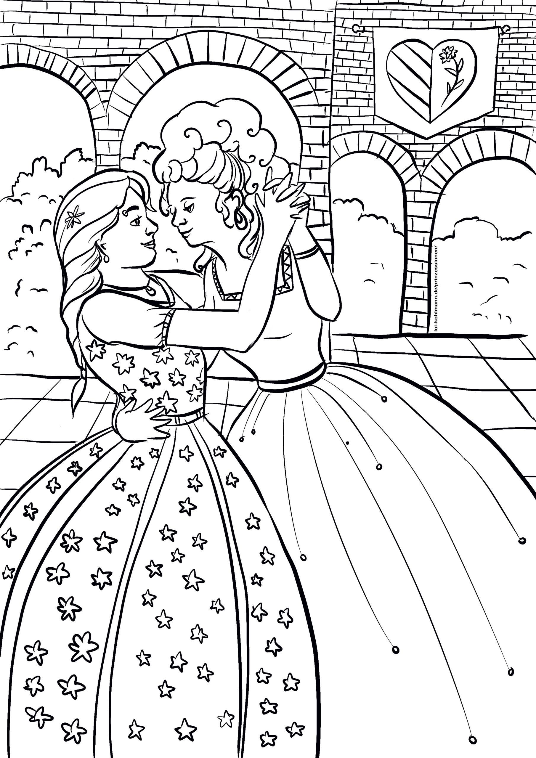 Ausmalbilder von Prinzessinnen – Lui Kohlmann
